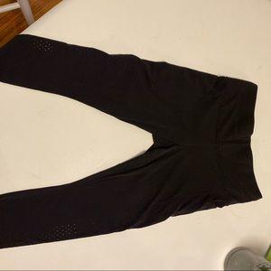 Athleta Black Capri Leggings w/ cute perforation